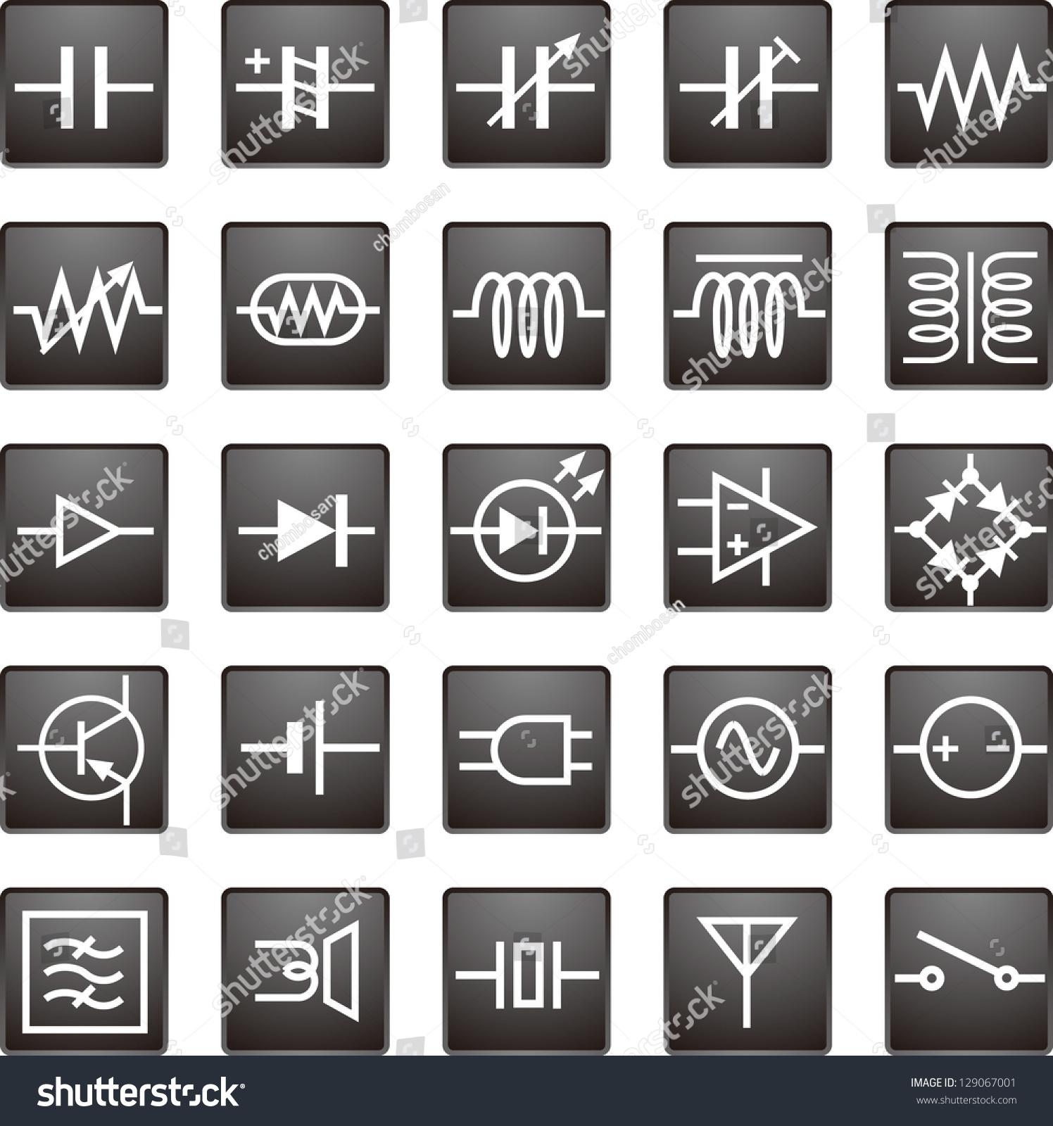 电路符号矢量图标