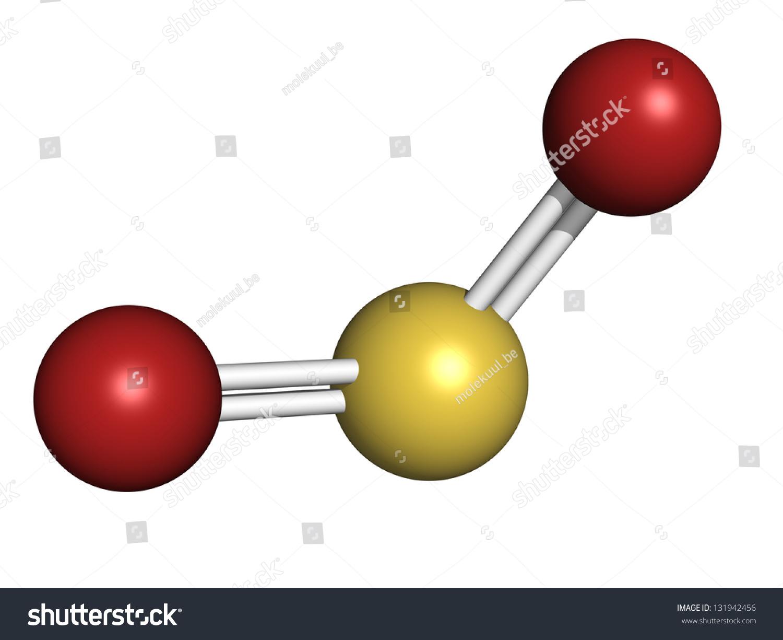 二氧化硫(so2)气体分子模型