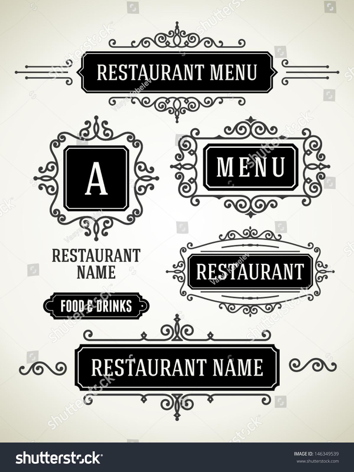 餐厅或咖啡厅菜单矢量设计风格的老式套.一夜暴富的