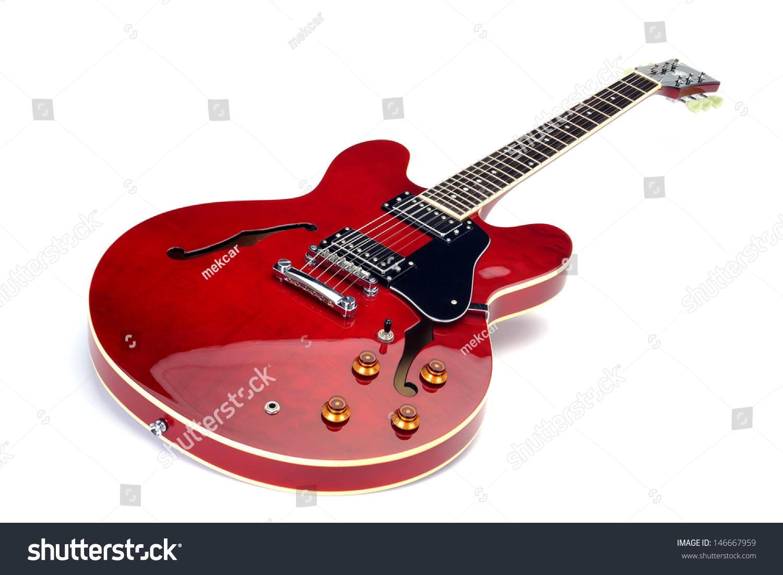 电吉他,白色背景