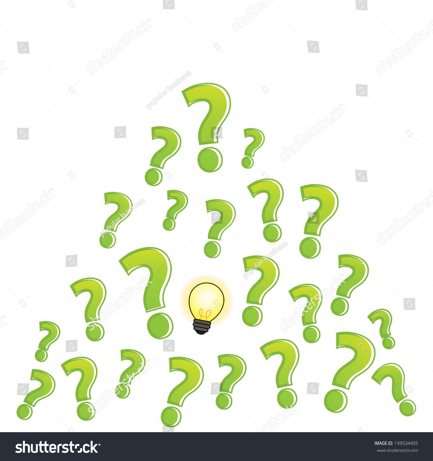 问号灯泡-背景/素材,商业/金融-海洛创意(hellorf)
