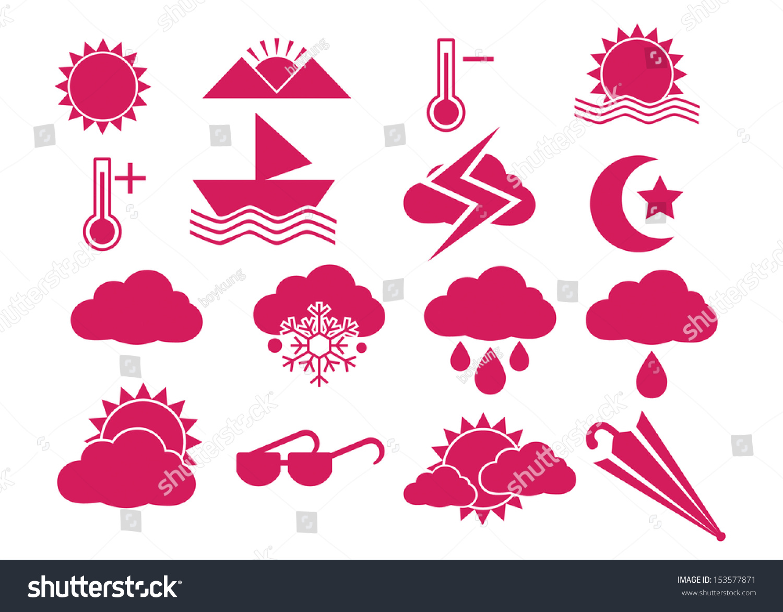天气图标与白色背景
