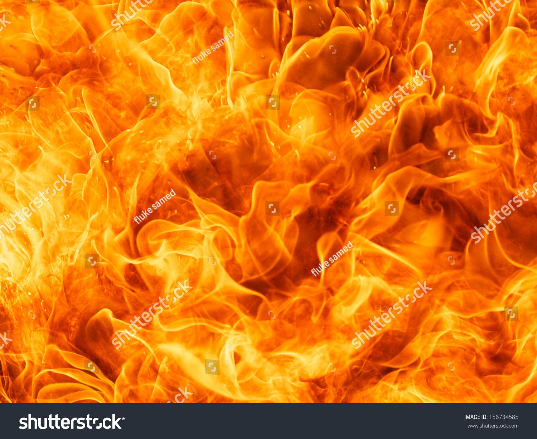 近距离拍摄的大火火火焰纹理背景-背景/素材