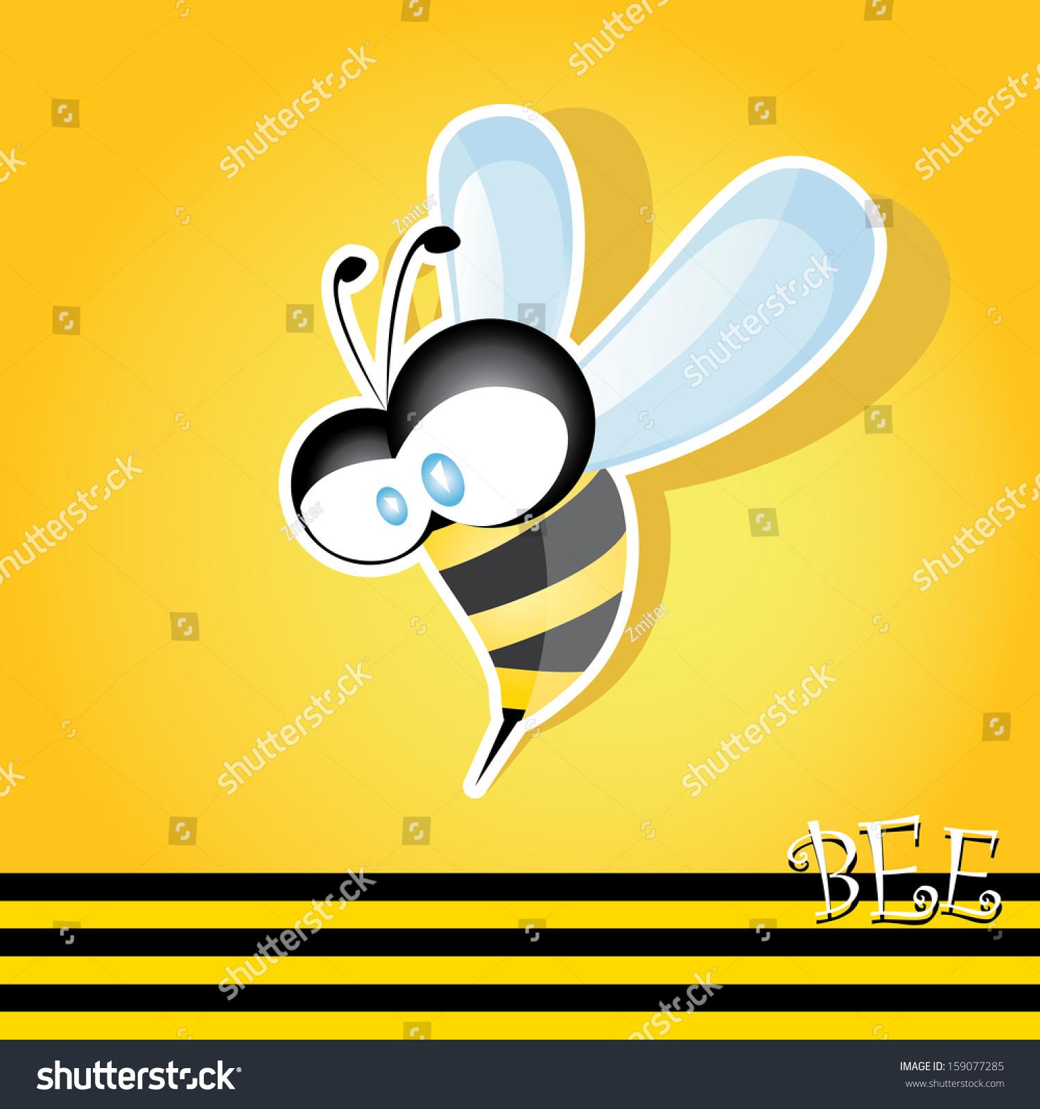 向量蜜蜂图标.卡通可爱聪明的小蜜蜂.矢量插图