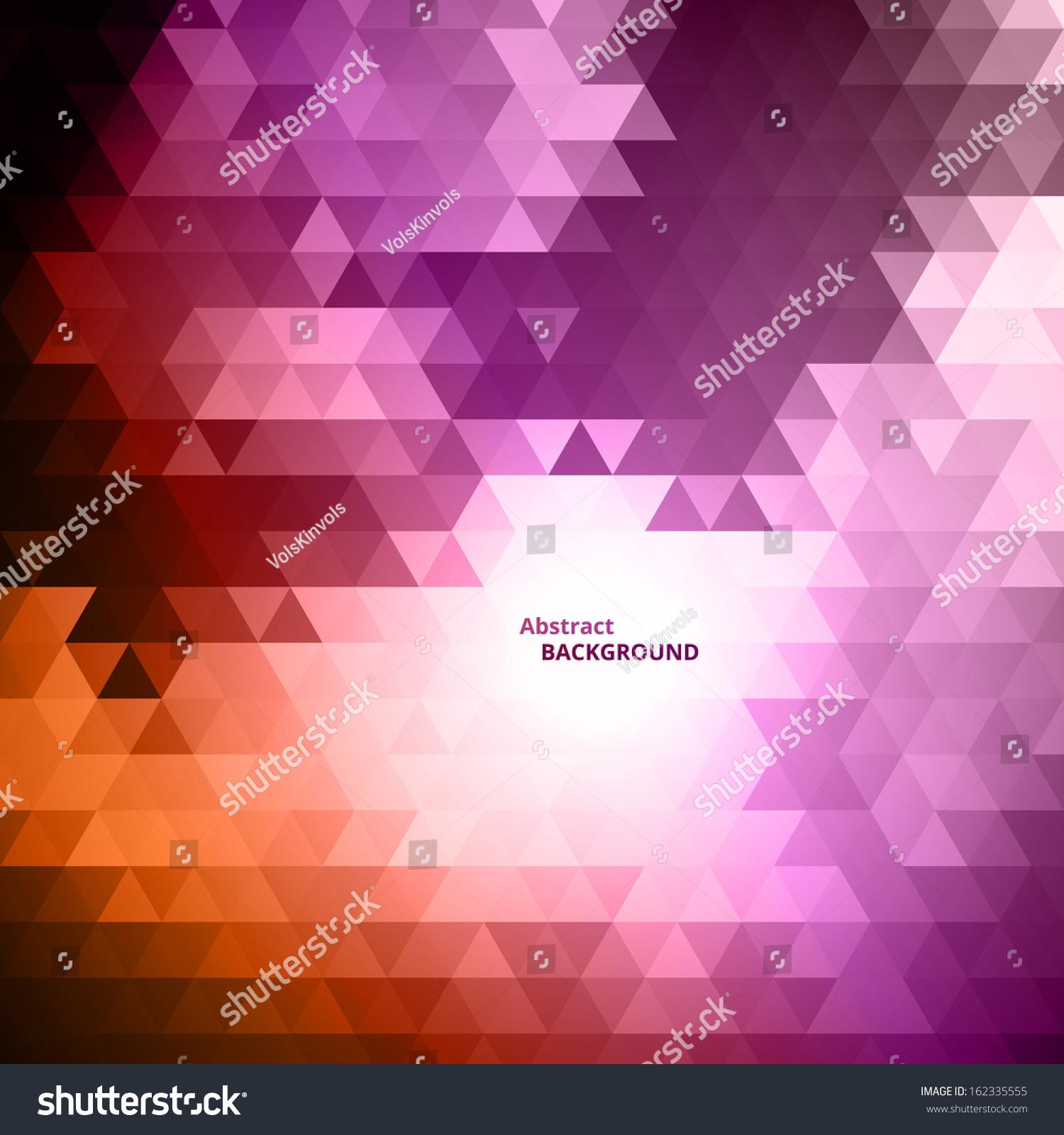 摘要紫色的三角形的背景-背景/素材
