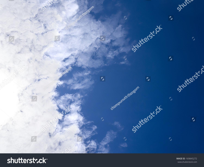 蓝色的天空背景-背景/素材