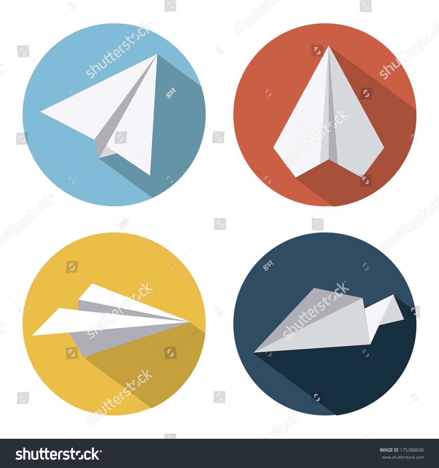 飞机设计在白色背景矢量插图-交通运输