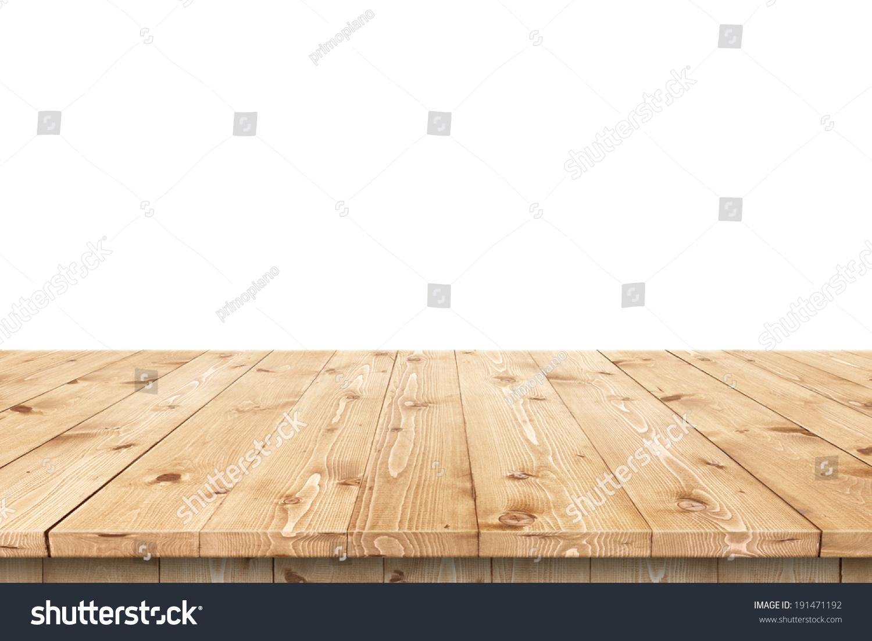 空的木头桌子在夏天太阳湿透花园植入式广告或蒙太奇
