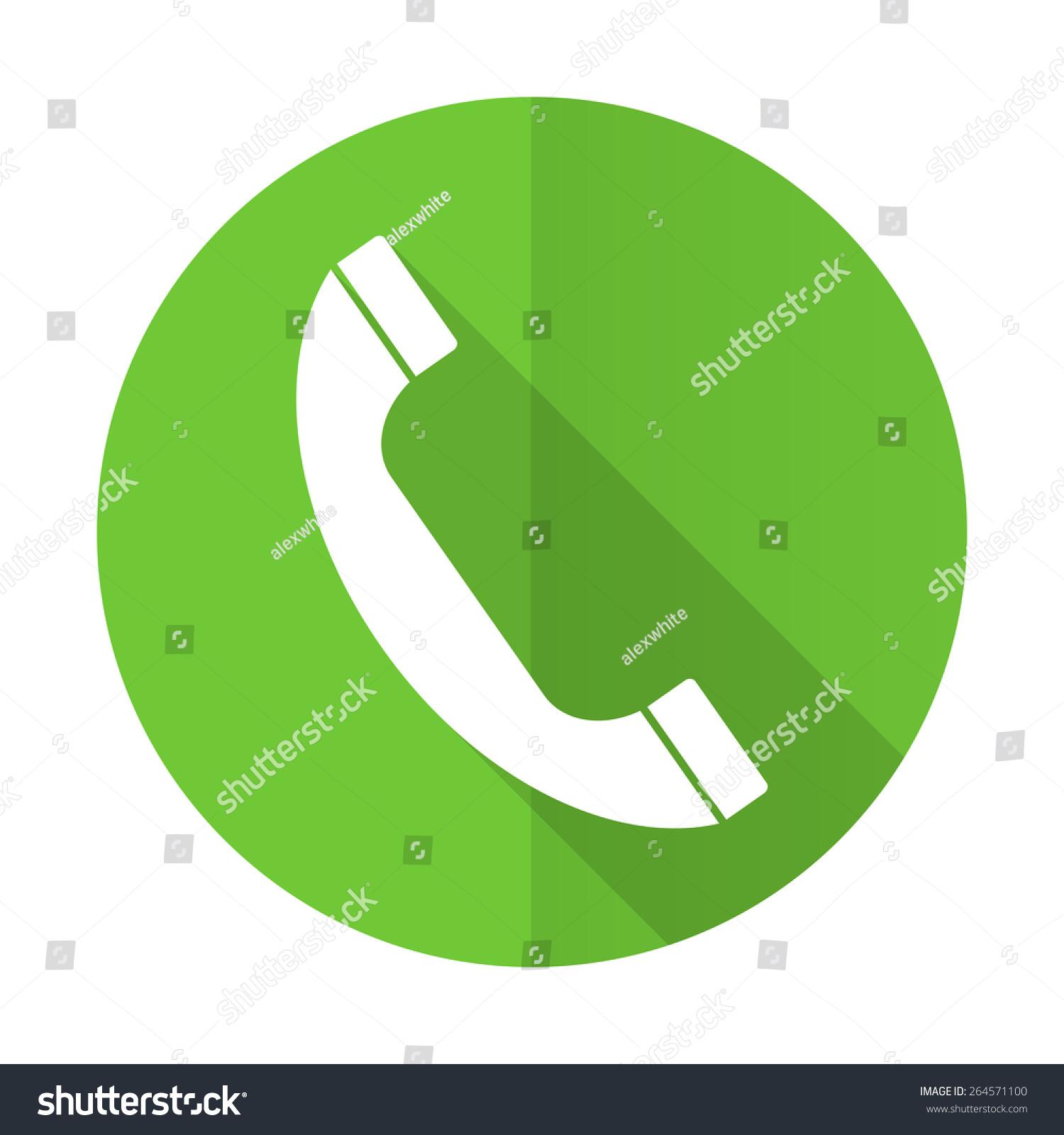 green flat icon