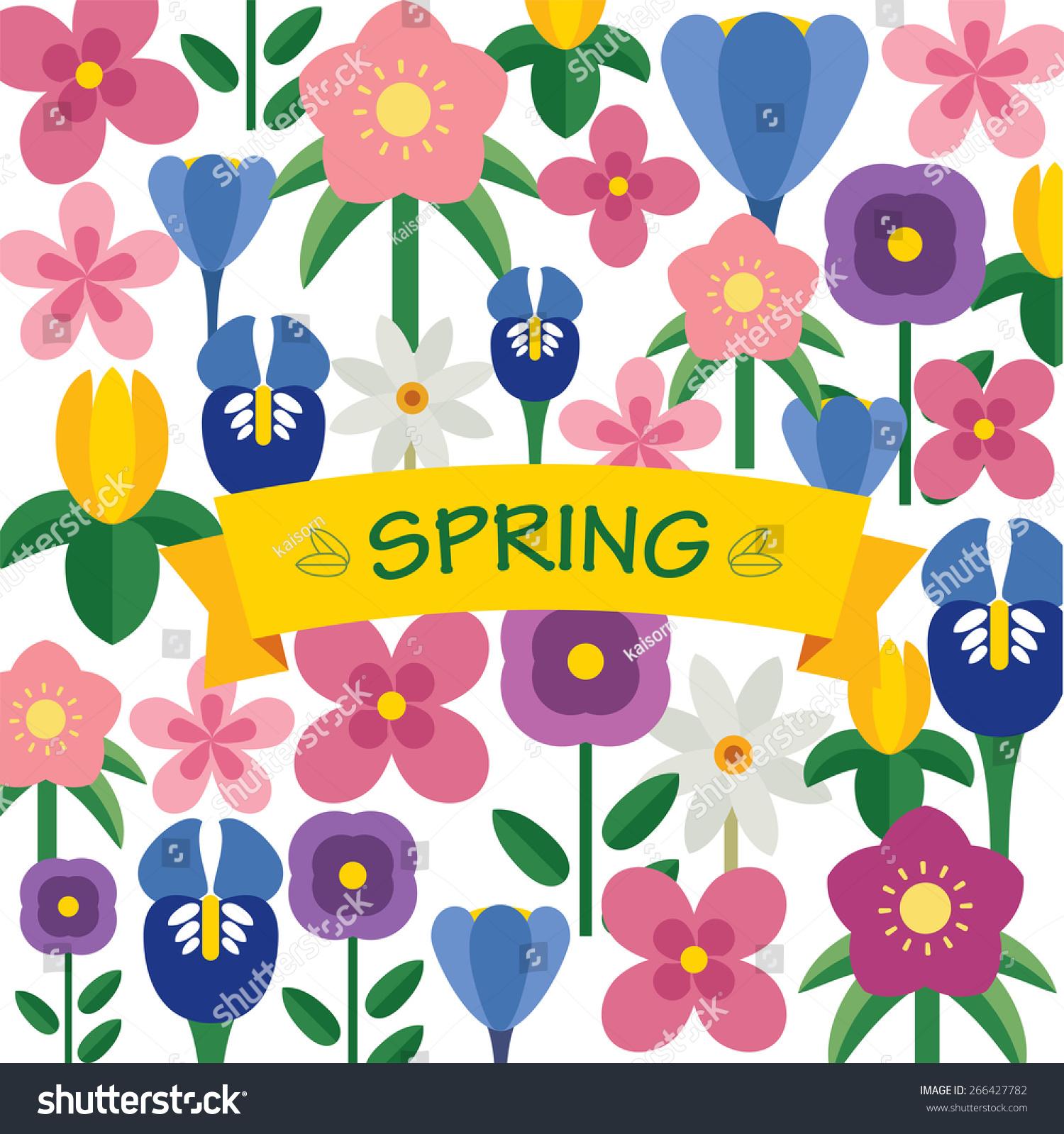 春天花背景平面设计-背景/素材