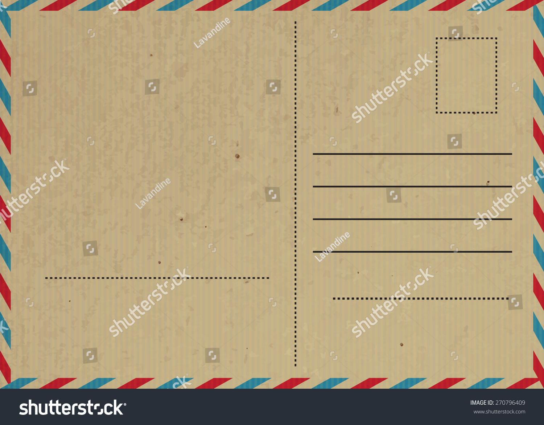 矢量图的老式明信片纸纹理-背景/素材