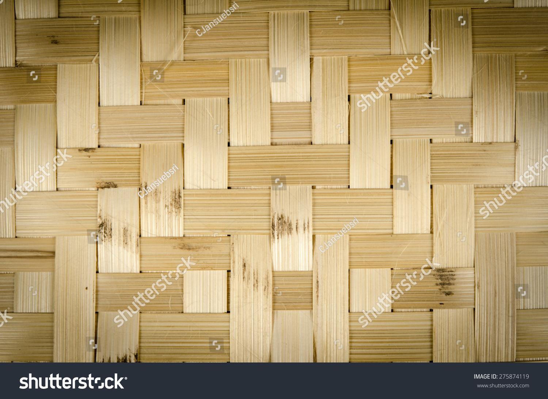 关闭模式的竹子编织篮子