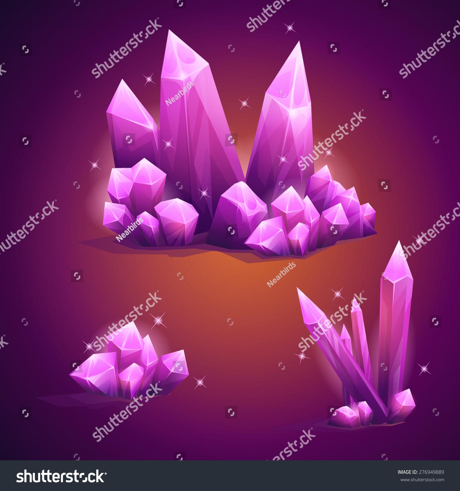 形状各异的魔法水晶-背景/素材