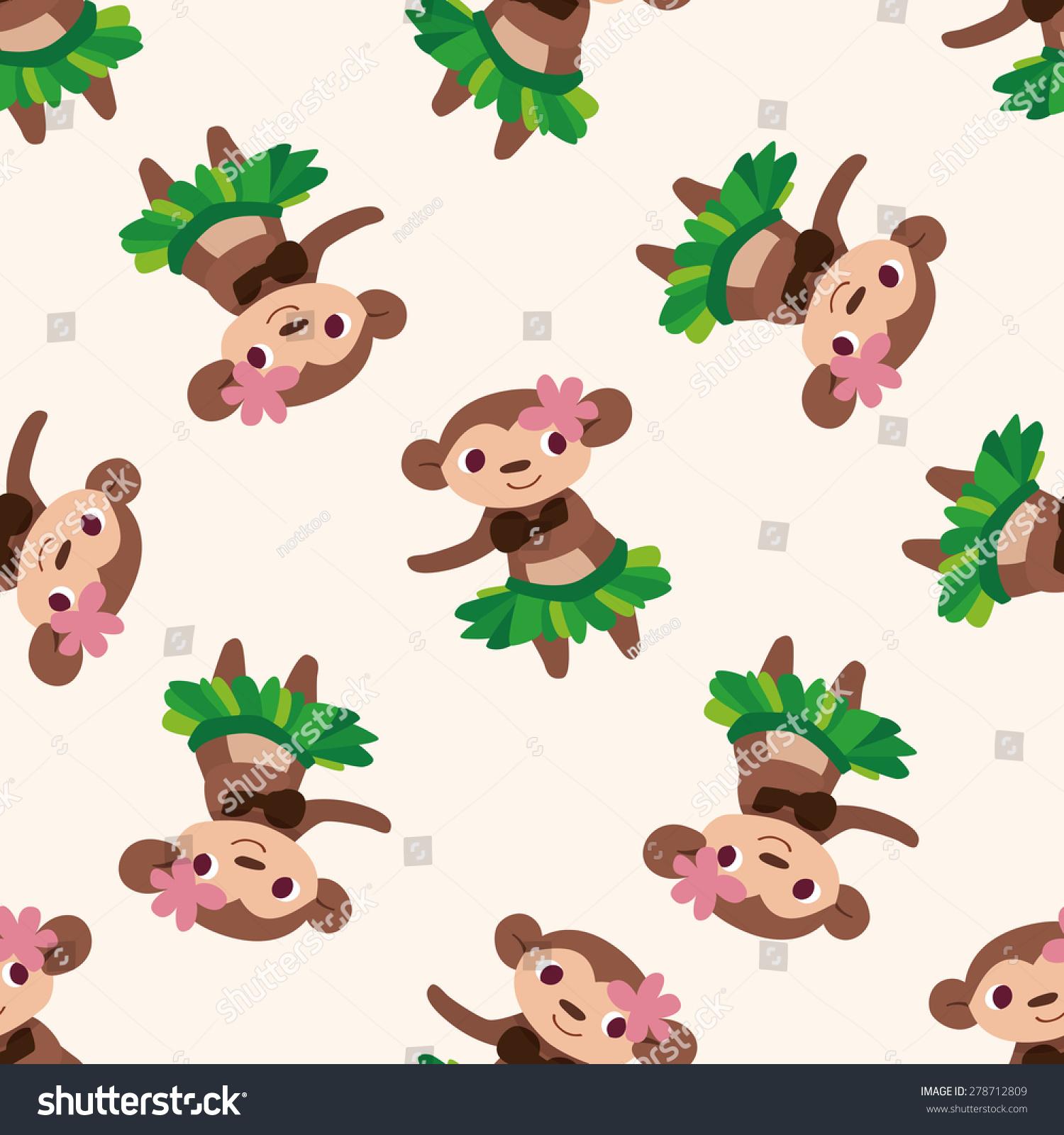 动物猴子卡通,卡通无缝模式的背景