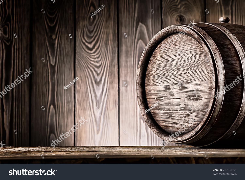 片段的旧木头桶木板背景