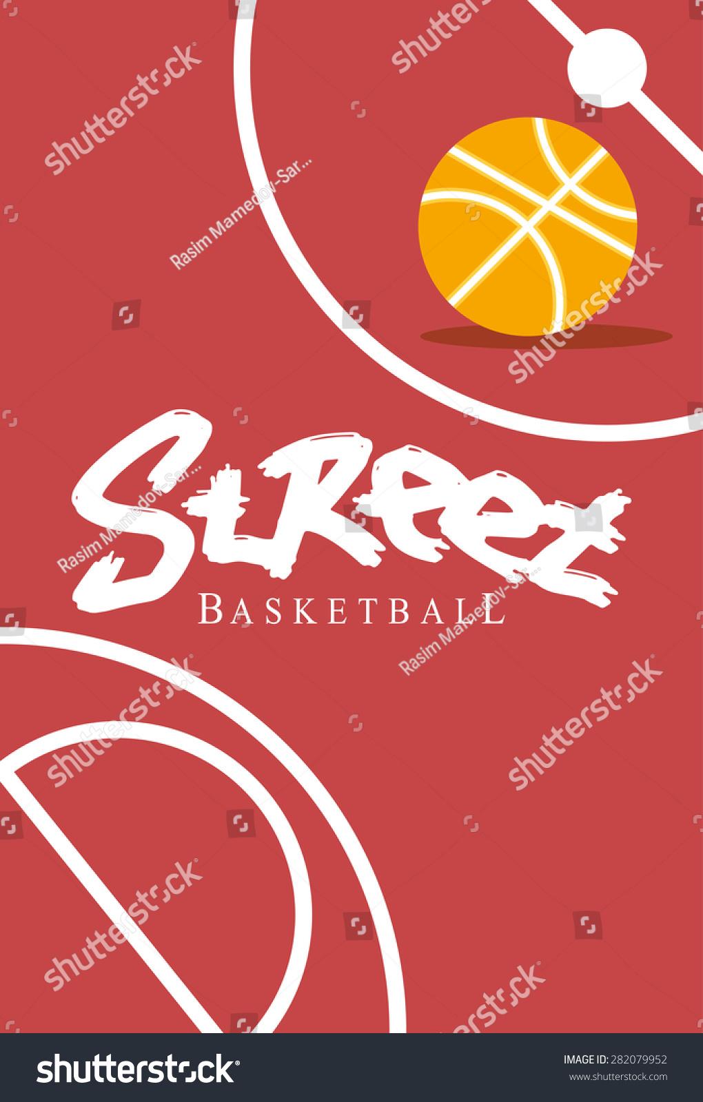 街头篮球海报-背景/素材