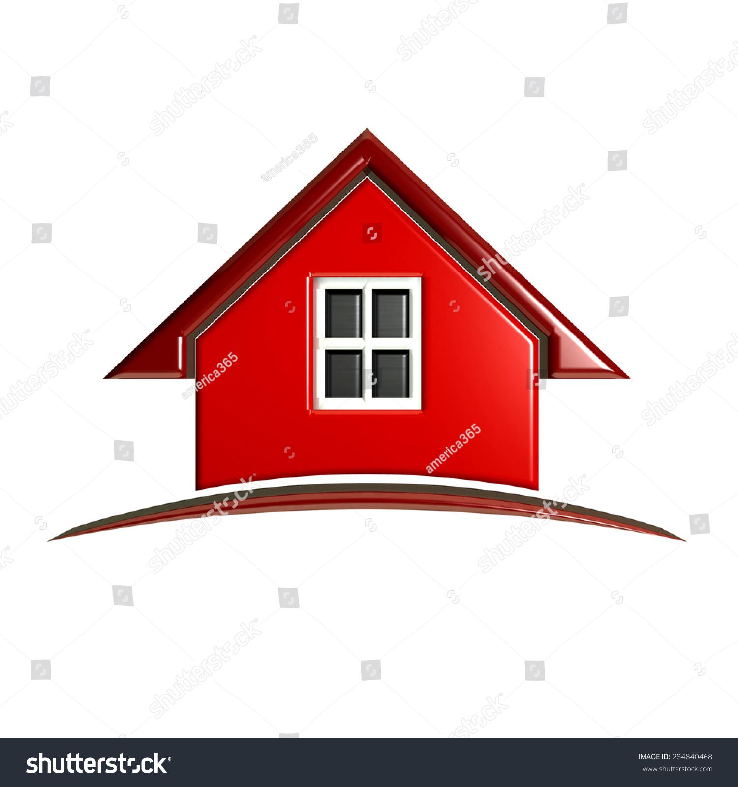 3 d豪華與拱紅房子