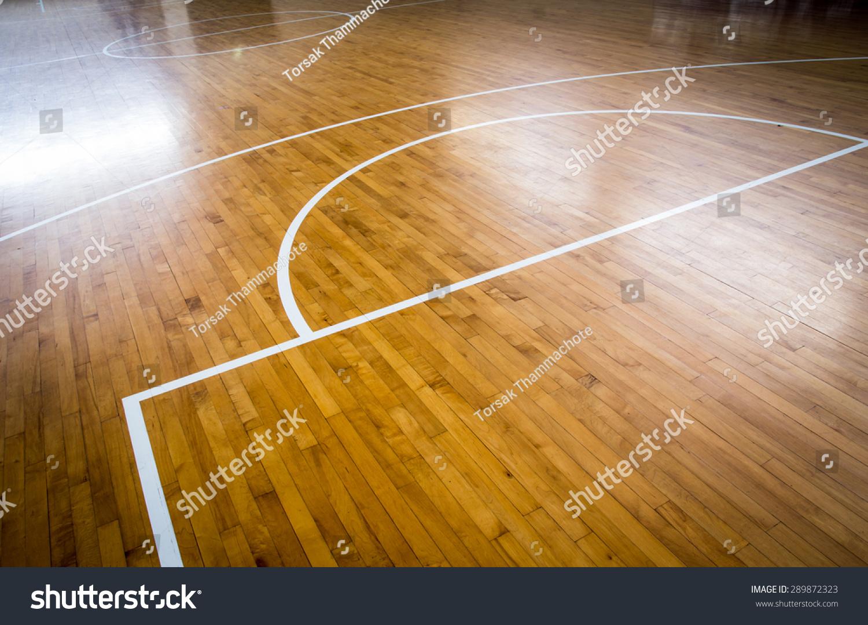 木地板篮球场-背景/素材