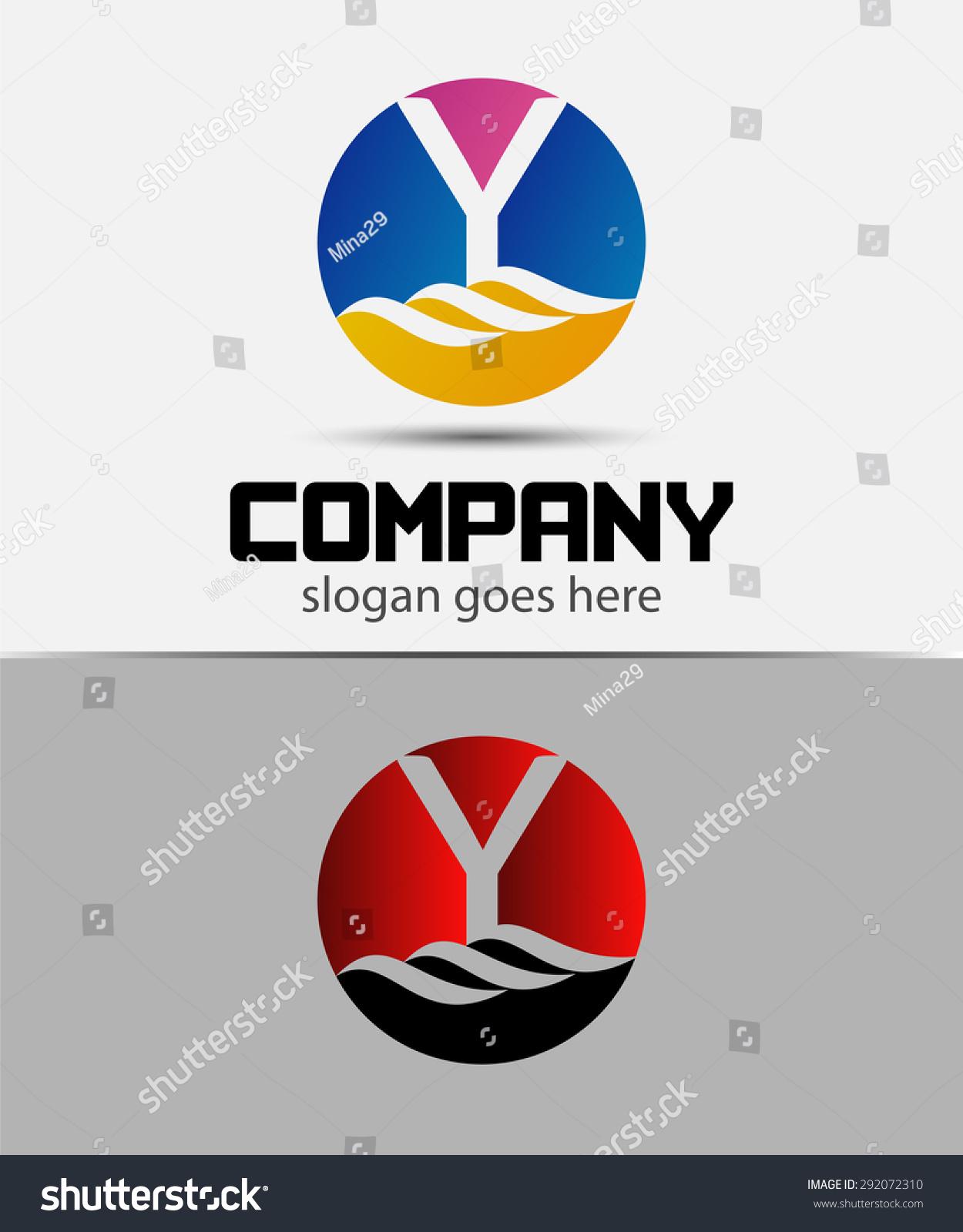 字母y标志图标设计模板元素