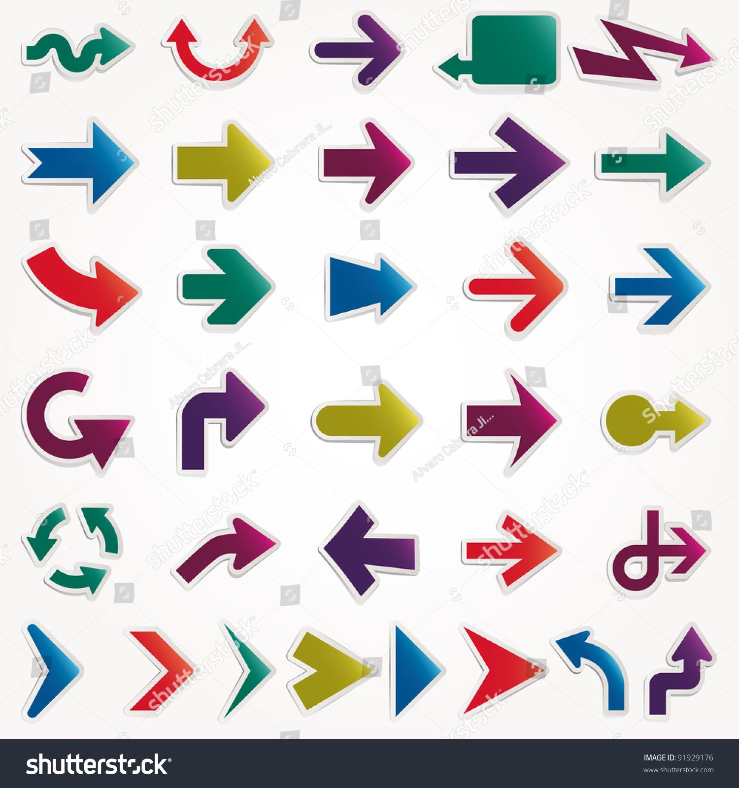 矢量箭头集-背景/素材,符号/标志-海洛创意(hellorf)