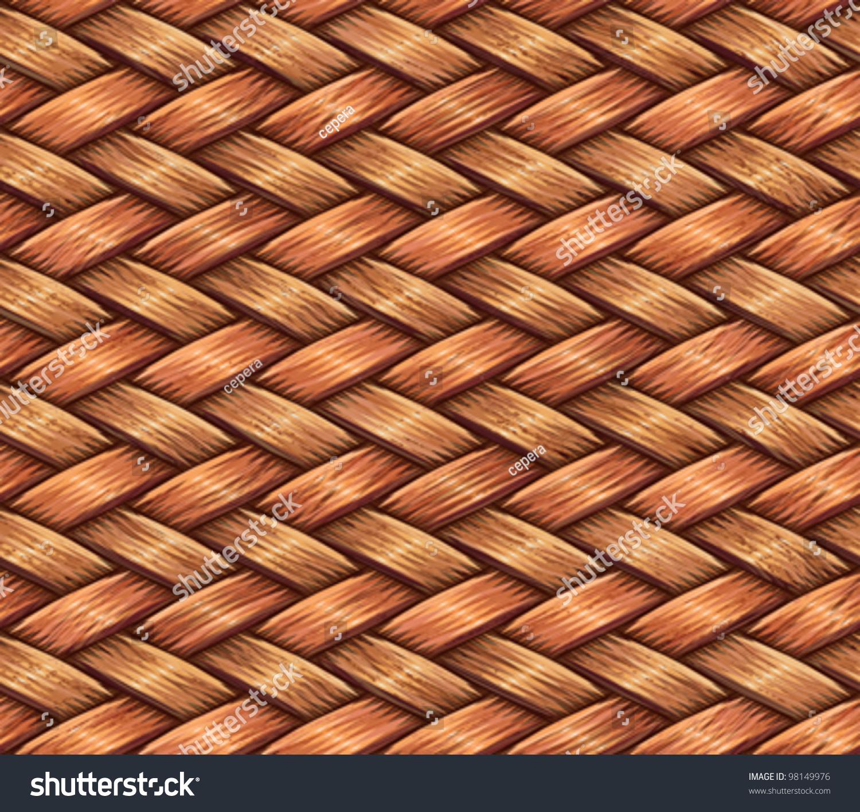 抽象的装饰木纤维篮子编织纹理的背景.无缝模式
